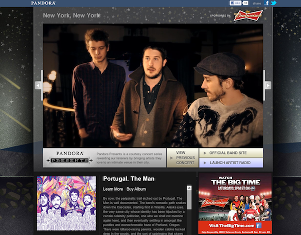 Pandora Presents: Portugal. The Man