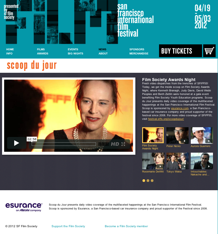 San Francisco International Film Festival Scoop du Jour Homepage
