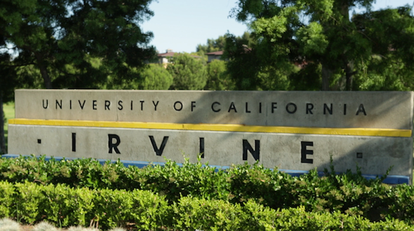 University of California Irvine Sign
